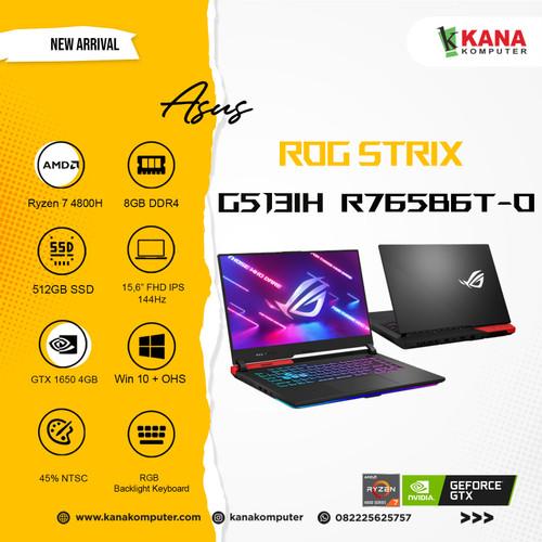 Foto Produk ASUS ROG Strix G G513IH R765B6T-O Ryzen 7 4800H/ GTX1650 /512GB/8GB dari kanakomputer