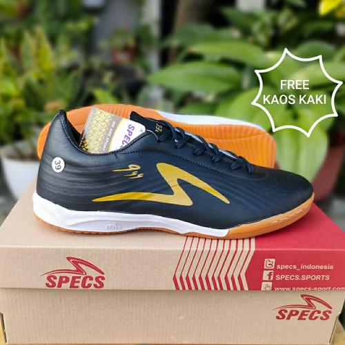 Foto Produk SEPATU FUTSAL SPECS LOW - Black Gold, 41 dari dzaky_sport