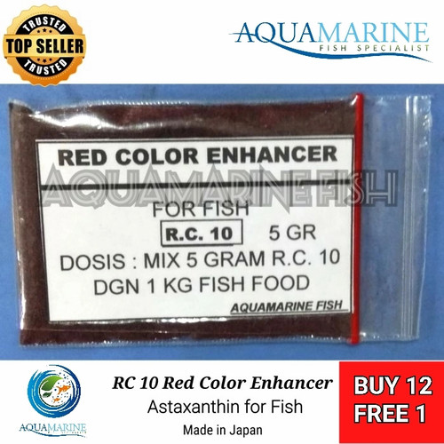 Foto Produk Astaxanthin Astaxantin RC10 5g red warna Pigmen merah ikan koi arowana dari AQUAMARINE FISH