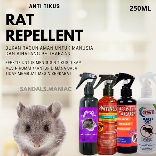 Foto Produk Pengusir Tikus/ Rat Repellent Parfum Tikus/ Anti Tikus Rat Spray 250ml - PENGUSIR TIKUS dari sandals.maniac
