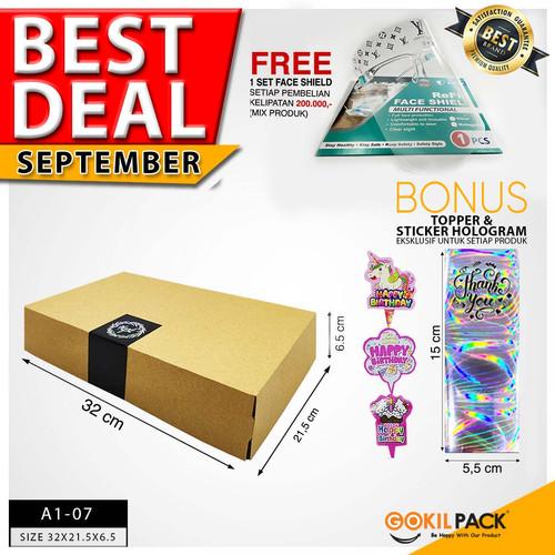 Foto Produk Box Packaging Kardus Polos Kotak Kue/Cake/Tart/Bolu/dll 32x21x6 cm dari GokilPack