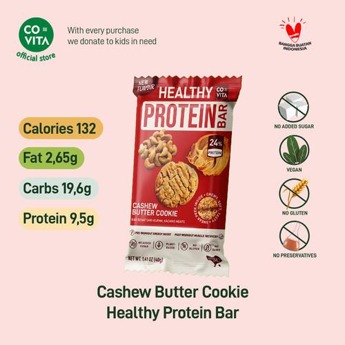 Foto Produk Covita Healthy Protein Bar - Cashew Butter Cookie - Selai Kacang Mente - 1 pcs dari Covita