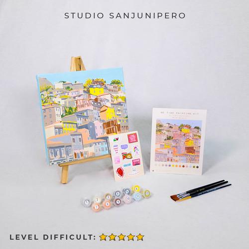 Foto Produk PASTEL DE'PORTO PAINTING KIT BY NUMBER STUDIO SANJUNIPERO - painting only dari Studio sanjunipero