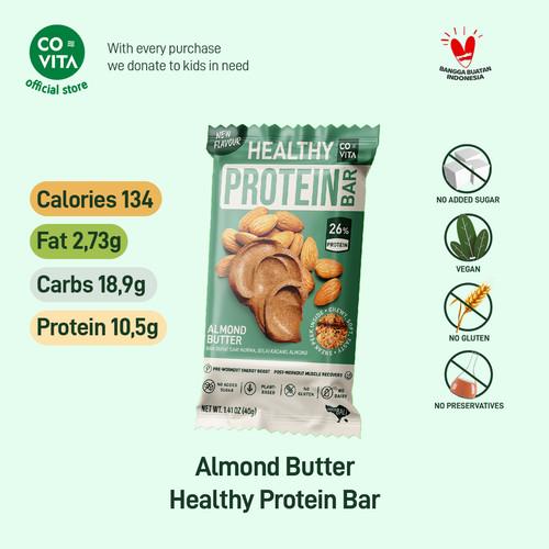 Foto Produk Covita Healthy Protein Bar - Almond Butter - Selai Almond - 1 pcs dari Covita