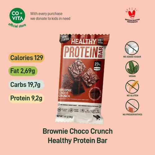 Foto Produk Covita Healthy Protein Bar - Brownie Choco Crunch - Snack Sehat Instan - 1 pcs dari Covita