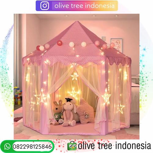 Foto Produk Tenda anak free LED / Tenda Princess / Playmatt / Tempat Bermain anak - Biru dari Olive Tree Indonesia