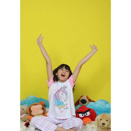 Foto Produk Piyama Anak Short Shirts Unicorn Born To Sparkle SSLP46 - 4 dari Boboo Kids