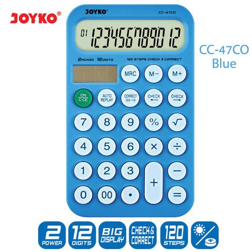 Foto Produk Calculator Kalkulator Joyko CC-47CO 12 Digits Check Correct - Blue dari JOYKO Official