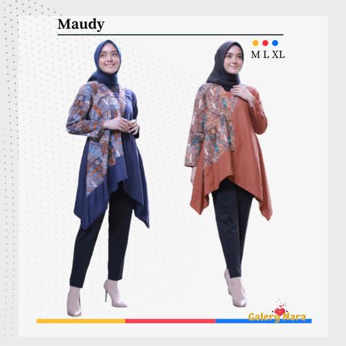 Foto Produk Baju Hamil Dress Hamil Kerja Atasan Batik Ibu Hamil Maternitywear - Biru, M dari Baju Hamil Menyusui GaleryNara