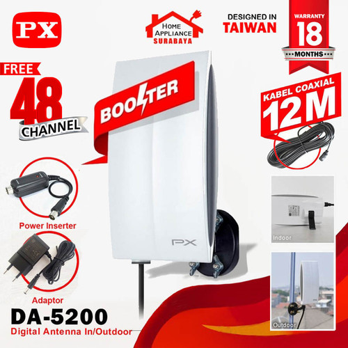 Foto Produk Antenna Antena TV Digital PX Indoor Outdoor DA-5200 dari Home Appliance Surabaya