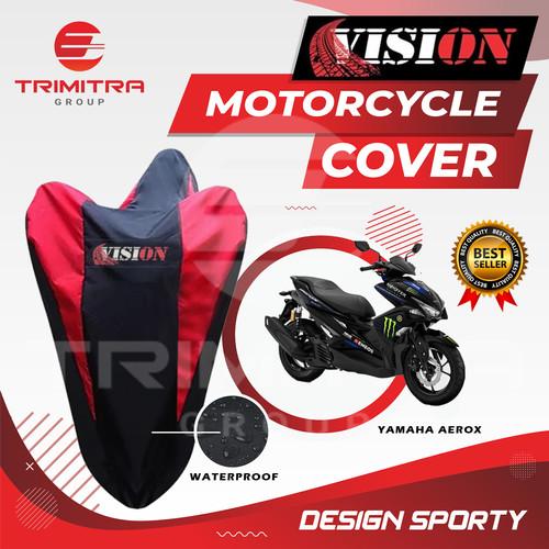 Foto Produk Sarung Motor AEROX / Cover Penutup Motor Warna waterproof Merk VISION - Merah dari Trimitra Group