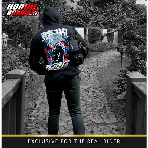 Foto Produk New Arrival Jaket Hoodie Sunmori Japanese Rider Warna Hitam Pria - L dari Outfit Millenial