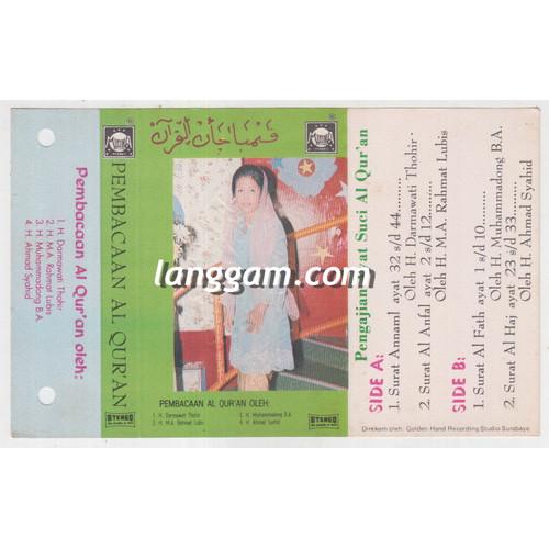 Foto Produk COVER SAMPUL KASET PENGAJIAN AL QURAN OLEH DARMAWATI THOHIR dari Langgam