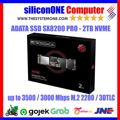 Foto Produk ADATA SSD XPG SX8200 PRO 2TB SX8200PRO 2 TB NVME M2 - 5 TAHUN dari silicon ONE Computer