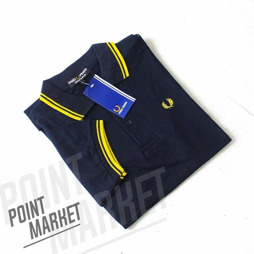 Foto Produk BAJU POLO SHIRT F PERRY TWIN NAVY LIST KUNING - M, navy-kuning dari PointMarket