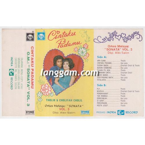 Foto Produk COVER SAMPUL KASET ORKES MELAYU SONATA VOL 3 - CINTAKU PADAMU dari Langgam