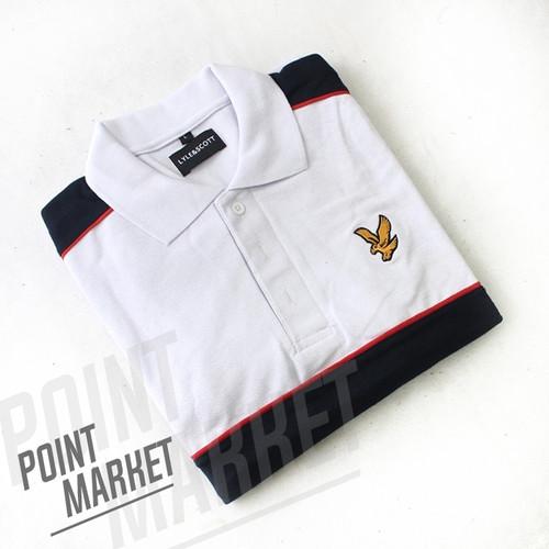 Foto Produk BAJU POLO SHIRT LYLE AND SCOOT PUTIH GARIS NAVY - M, putih-navy dari PointMarket