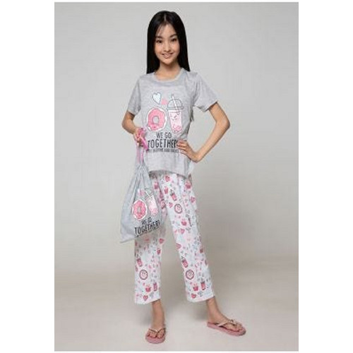 Foto Produk Piyama Anak Short Shirts Bedtime and Snacks SSLP59 - 4 dari Boboo Kids