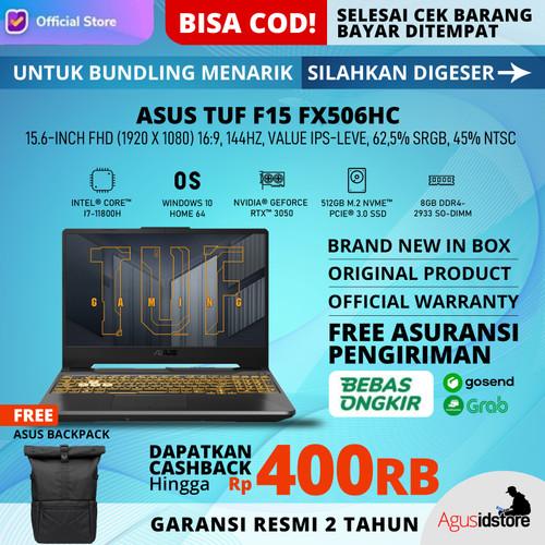 "Foto Produk ASUS TUF F15 FX506HC i7 11800H RTX 3050 144Hz 8GB 512GB 15.6"" W10 - NON Bundle dari agusidstoreapple"