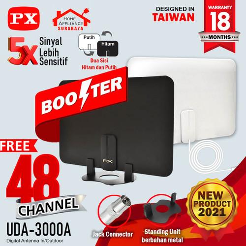 Foto Produk Antena TV Digital Analog Indoor Dinding DVB T2 + Booster PX UDA-3000A dari Home Appliance Surabaya