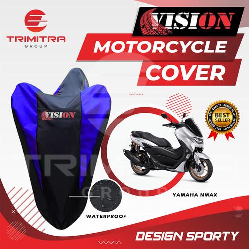 Foto Produk Sarung Motor NMAX / Cover Penutup Motor Warna waterproof Merk VISION - Biru dari Trimitra Group