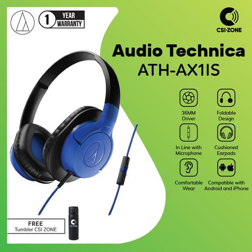 Foto Produk Audio Technica ATH-AX1IS SonicFuel® Over Ear Headphone - Blue dari csi-zone