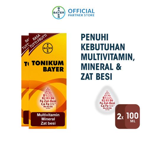 Foto Produk Tonikum Multivitamin, Mineral, dan Zat Besi Rasa Tutti Frutti 100ml x2 dari Bayer Health Partner