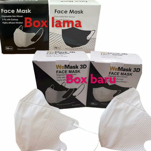 Foto Produk Masker 3ply DUCKBILL IMPORT face DUCK 3 ply face mask isi 10 dan 50pc - DB GARIS WHT 50 dari 7EVENSHOP