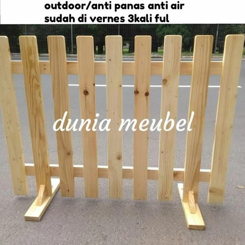 Foto Produk pagar kayu pagar taman pembatas ruangan penyekat ruangan dari DUNIA MEUBEL ONLINE