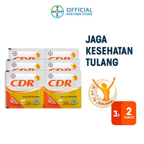 Foto Produk CDR Suplemen Kalsium Rasa Jeruk 3 x 2 Sachet dari Bayer Health Partner