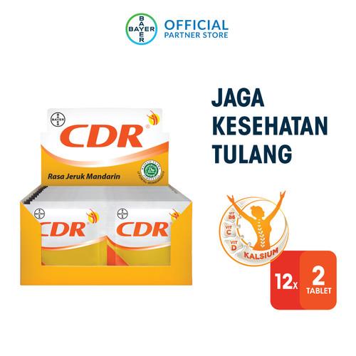 Foto Produk CDR Suplemen Kalsium Rasa Jeruk 12 x 2 Sachet dari Bayer Health Partner