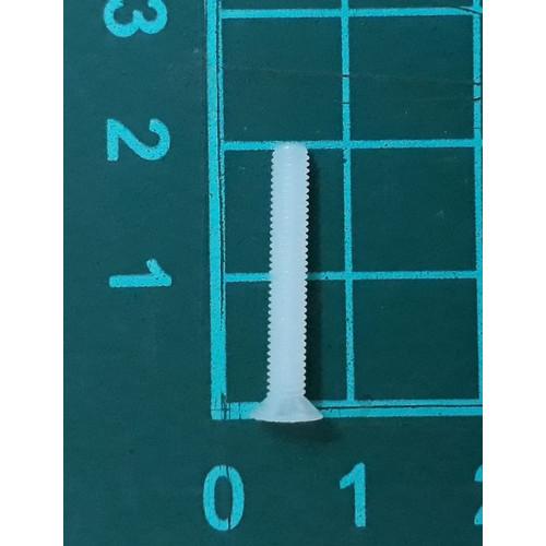 Foto Produk skrup baut screw plastik putih nylon M3 x 20 mm kepala miring dari SentraOnlineShop