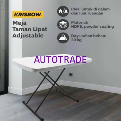 Foto Produk KRISBOW MEJA LIPAT ADJUSTABLE / MEJA LIPAT PRAKTIS SERBAGUNA dari Autotrade