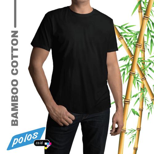 Foto Produk Kaos Bambu / Kaos Polos Bambu - Bamboo Cotton Unisex - L, Hitam dari polos.co.id