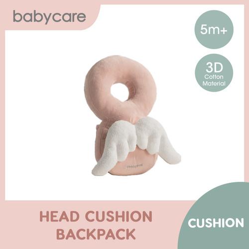 Foto Produk Babycare Baby Head Cushion Backpack (Lion/Elephant/Angel) - Merah Muda dari Babycare Official