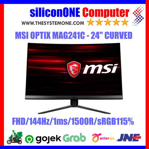 Foto Produk MSI OPTIX MAG241C CURVE 144HZ GAMING 1ms dari silicon ONE Computer