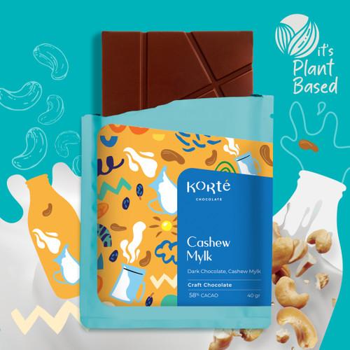 Foto Produk Korte Cashew Mylk Chocolate Bar dari Korte Chocolate