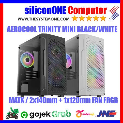 Foto Produk AEROCOOL TRINITY MINI V2 [3FAN] MATX FRGB TEMPERED GLASS CARD READER dari silicon ONE Computer