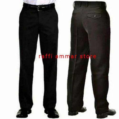 Foto Produk Celana Panjang Pria Formal Kerja Kantor / Celana Bahan - Hitam, 27 dari RAFFI AMMAR STORE