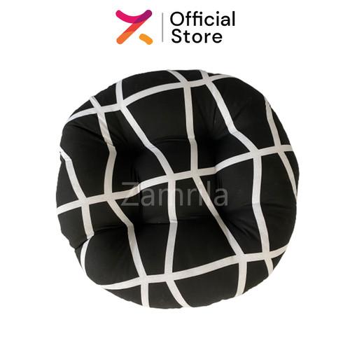 Foto Produk Black Line, Bantal Duduk Bulat Kualitas Premium Uk 50cm Big Size dari Zamrila Shop