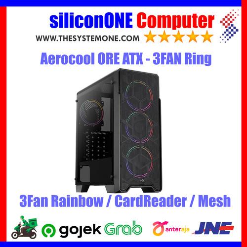 Foto Produk AEROCOOL ORE Tempered Glass Card Reader Built-in ATX 3FAN dari silicon ONE Computer