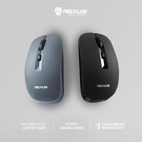 Foto Produk Mouse Wireless Rexus Office Q20 Silent Mouse - Hitam dari Surya Mitra Online