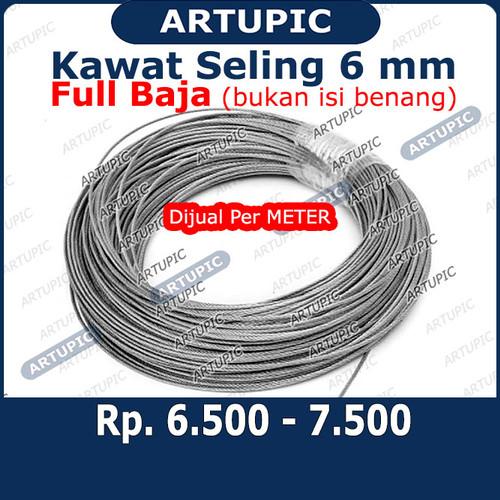 Foto Produk Kawat Seling 6 mm Kawat Selling Sling Baja Galvanise Wire Rope 6mm dari ArtupicPeralatanPeternak
