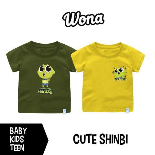Foto Produk Kaos Cute Shinbi N&F Untuk Bayi-Remaja Bahan Katun Combed 30s - Style-H Army, 6-12 Bulan dari WONA OFFICIAL