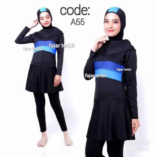 Foto Produk Baju renang perempuan muslim dewasa baju renang wanita muslimah remaja - A55, M dari fajar terbit