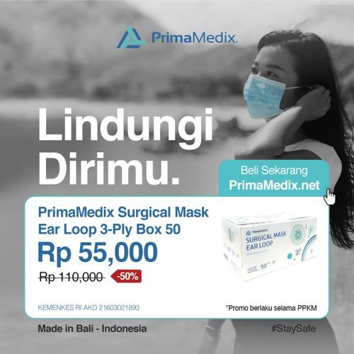 Foto Produk PrimaMedix Surgical Mask Ear Loop 3Ply Box 50 Pembelian Minimal 4 Box dari PrimaMedix Surabaya
