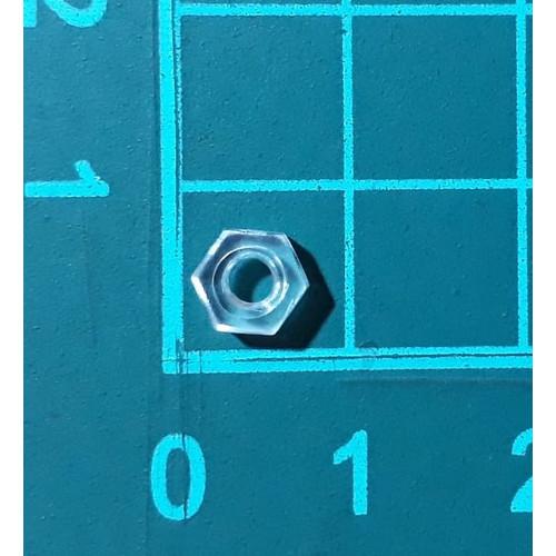 Foto Produk Mur Nut hexagonal Nylon Plastik M3 transparant Baut Skrup Screw dari SentraOnlineShop