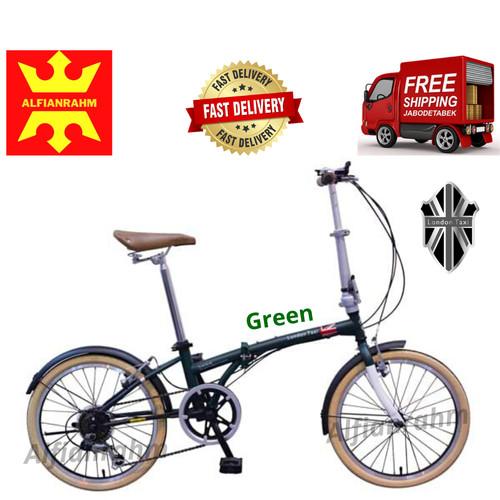 Foto Produk Sepeda lipat London Taxi 20 inch - Green dari alfianrahm