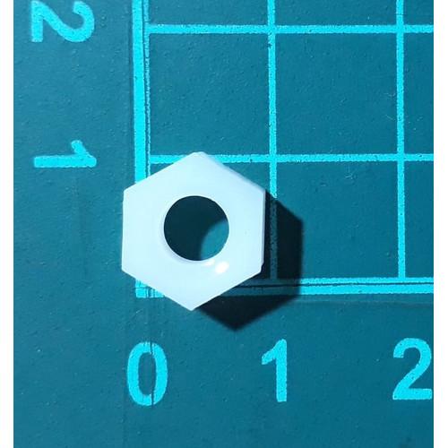 Foto Produk Mur Nut hexagonal Nylon Plastik M6 robotik mainan Baut Skrup Screw dari SentraOnlineShop