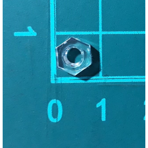 Foto Produk Mur Nut hexagonal Nylon Plastik M4 transparant Baut Skrup Screw dari SentraOnlineShop